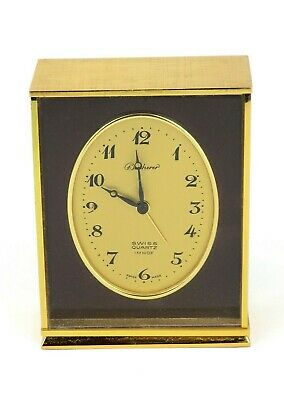 Bucherer IMHOF Carriage Clock Small Mantel Presentation Swiss Made (UNTESTED)