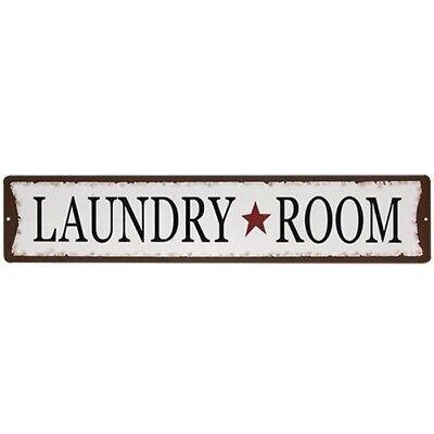 New Rustic Primitive Country Rusty Black Red Star LAUNDRY ROOM SIGN Wall Hanging
