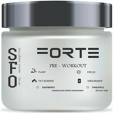 FORTE Preworkout - 250 gm Raspberry or Pineapple