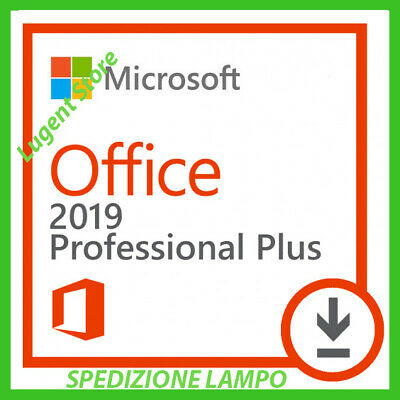 Microsoft Office 2019 Professional Plus Pro 32/64 bit - Originale