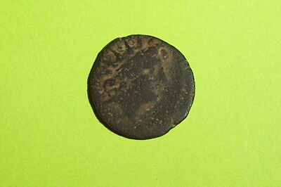 Antiochos VIII 189 BC ancient Greek Coin headdress of Egyptian Isis radiate old