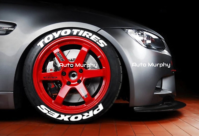 ToyoTires Proxes 3D Permanent Raised Rubber Lettering Tire Stickers 8 Decal Kit