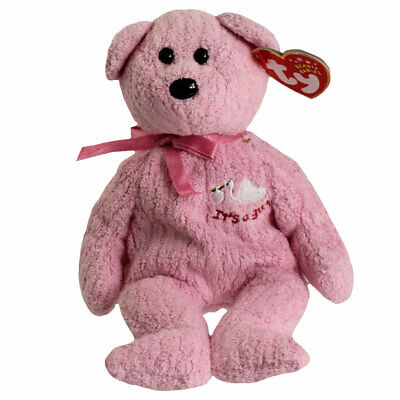 4cc654f2e39 TY Beanie Baby - BABYGIRL the Bear (with Stork   It s a Girl on Chest