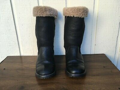 656f78617b3 $275 UGG BROOKS Tall 5490 Women's Genuine Leather/Suede Boots Size US  9.Black
