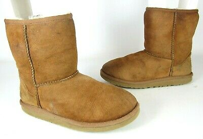 65770f5ebe8 UGG AUSTRALIA YOUTH Classic Short Suede Boot Chestnut #5251 Size 2 ...
