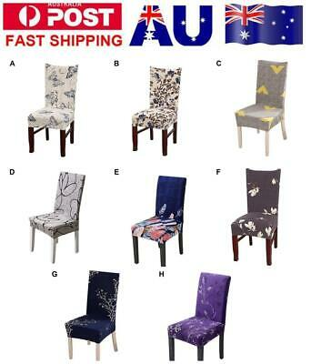 1/4/6/8 Pcs Spandex Stretch Dining Chair Cover Protector Slipcovers Seat Cover
