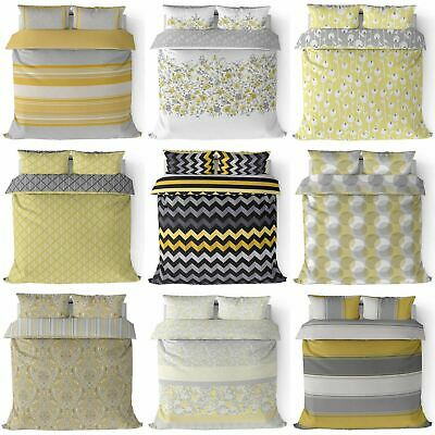 Ochre Duvet Cover Yellow Mustard Printed Quilt Set Bedding Covers Sets