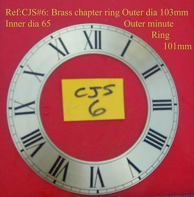 25/2 cjsd#6   New hermle Replacement brass chapter ring for clock dial 103mm od