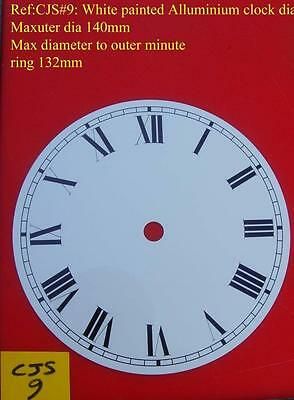 27/2 cjsd#9   New hermle Replacement alloy white painted clock dial 140mm od