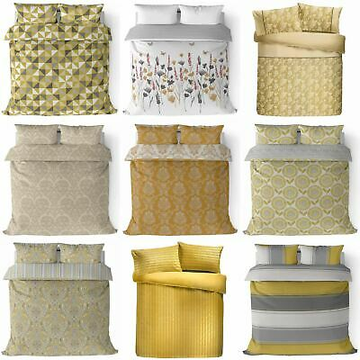 Gold Duvet Cover Mustard Yellow Printed / Jacquard Quilt Set Bedding Covers Sets