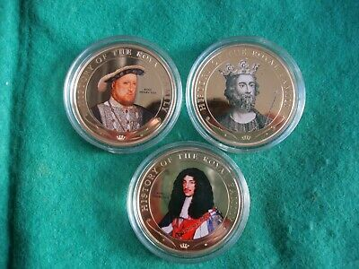 The History of The Royal Family - Coloured Portrait Coin Collection  (F-95)