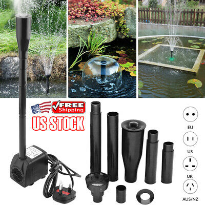 15W Submersible Pump Aquarium Fish Pond Filter Pump Circulating Waterproof Kit