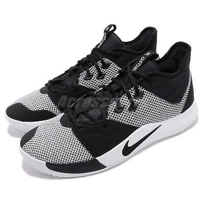 a9bb2c8ff Nike PG 3 EP Paul George Black White Mens Basketball Shoes Sneakers  AO2608-002
