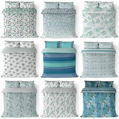 Duckegg Duvet Cover Duck Egg Teal Printed Cotton Quilt Set Bedding Covers Sets