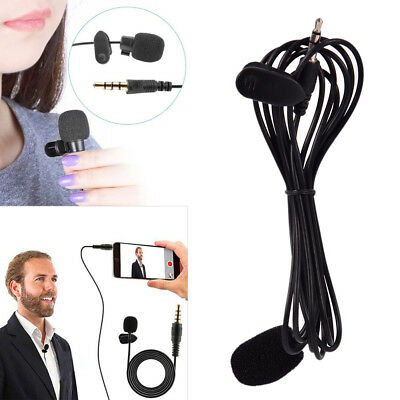 3.5mm Clip On Lapel Microphone Hands Free Wired Condenser Mini Mic EC