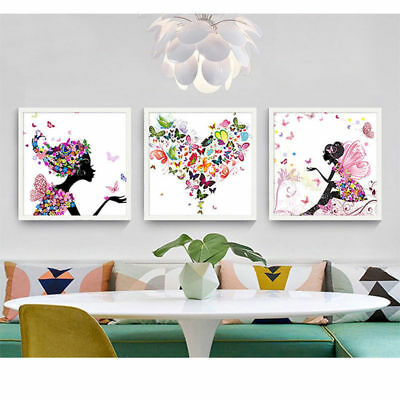 Flower Fairy Nordic Modern Wall Art Canvas Painting Home Room Decor Mural Poster