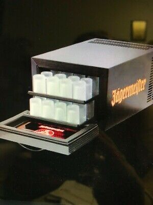 Jagermeister Frosted Set Of 6, 1 Oz Shot Glasses New In Box Nos Liquor Spirits