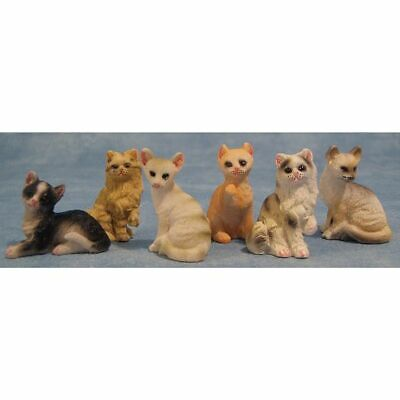 1/12 Streets Ahead Dolls House Assorted miniature cute cats,Kitten 1 piece 8/973