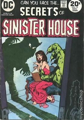Secrets of Sinister House #15 1973 VG 4.0 Stock Image Low Grade