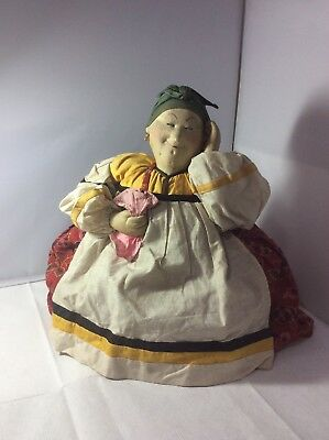 Vintage Rare Large Russian Lady Tea Cosy Stockinet Face Charming