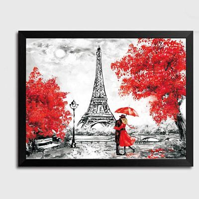 Modern Romantic Paris Eiffel Tower Wall Art Canvas Painting Poster Home Decor
