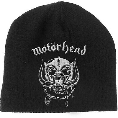 MOTÖRHEAD Classic Band Logo Warpig Snaggletooth BEANIE EMBROIDERED 3D LOGO MÜTZE