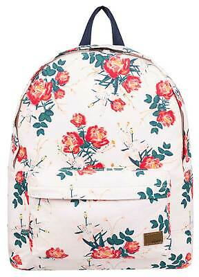 Roxy Sugar Baby Canvas 16L Backpack - Cloud Pink Garden Lily - New