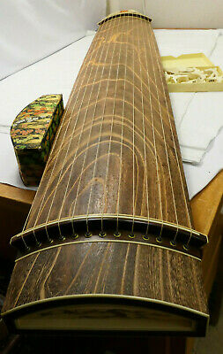 Vintage Wooden Japanese KOTO 13 STRING Kayagum Plucked Stringed Instrument #19