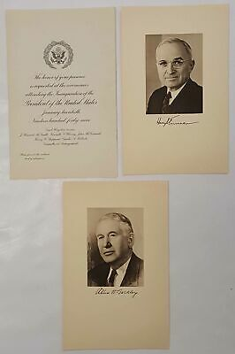 1949 Harry Truman Congressional Inaugural Invitation With Photos