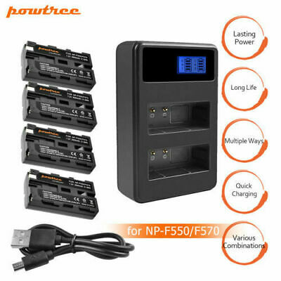 Powtree NP-F570 Battery or Charger for Sony NP-F570 NP-F550 NP-F530 NP-F330  HT