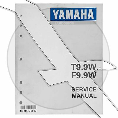 FACTORY YAMAHA OUTBOARD motor service manual T9 9R F9 9R 1992