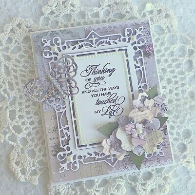 Rectangle Frame Metal Cutting Die Stencil Scrapbooking Paper Cards Handcarfts