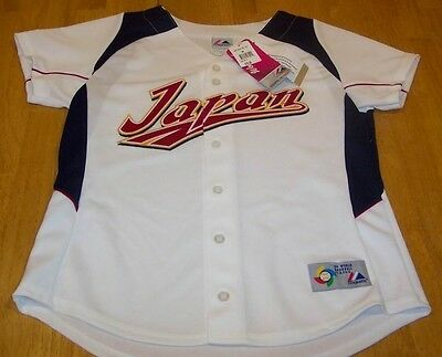 Women s Japan World Baseball Stitched Jersey Large New c8eed7683