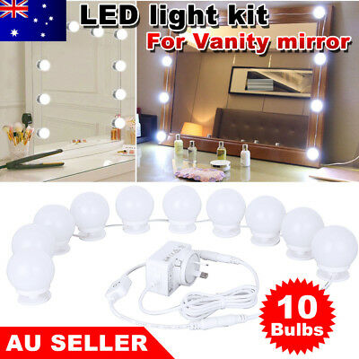 10 Bulbs Dimmable LED Hollywood Mirror makeup Light Vanity Kit for Dressing