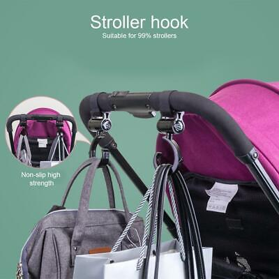 2PCs Baby Wheelchair Pram Carriage Bag Hanger Hook Clip Stroller Accessories