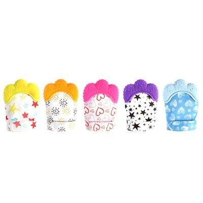 Baby Glove Silicone Teether Pacifier Teething Wrapper Sound Candy Portable