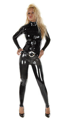 LARGE 100% Latex Rubber BLACK Catsuit Second Skin Top Quality *HOT* Body Suit
