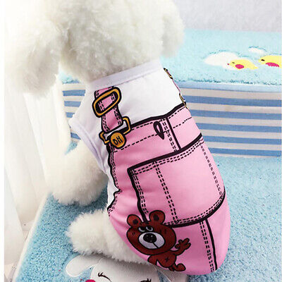 Puppy Vest Small Teacup Dog Clothes Shirt Hoodie Coat Chihuahua Cat Apparel BS