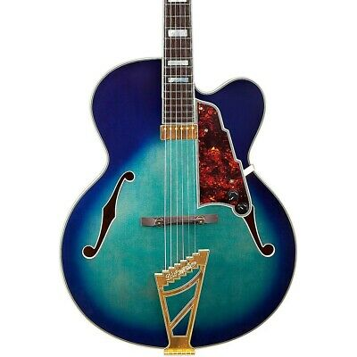 D'Angelico EXL-1 Hollowbody Guitar Stairstep Tailpiece Blue Brst 190839185204 OB
