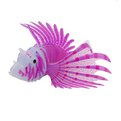 Beautiful Fish Tank Aquarium Artificial Lionfish Glow In Dark Ornament Supply LA