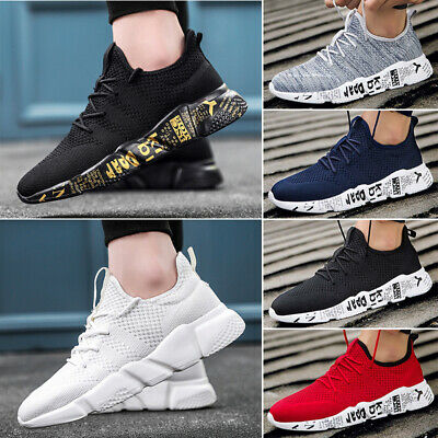 Mens Womens Lace Up Running Trainers Fitness Gym Sports Shoes Casual Sneakers UK