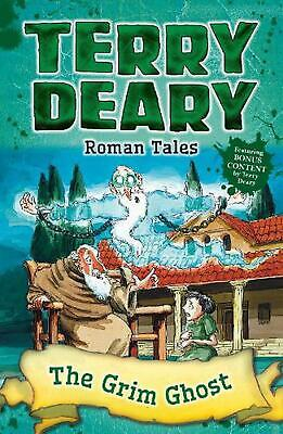 Roman Tales: the Grim Ghost by Terry Deary Paperback Book Free Shipping!