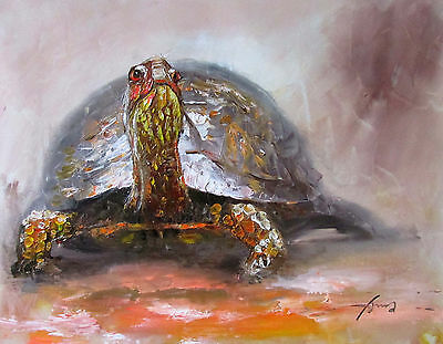 ZWPT147 modern 100% handpainted abstract tortoise art oil painting on Canvas