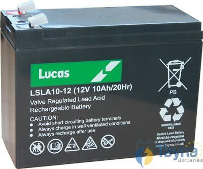 LSLA10-12 Lucas Sealed Lead Acid Batterie 12V 10Ah