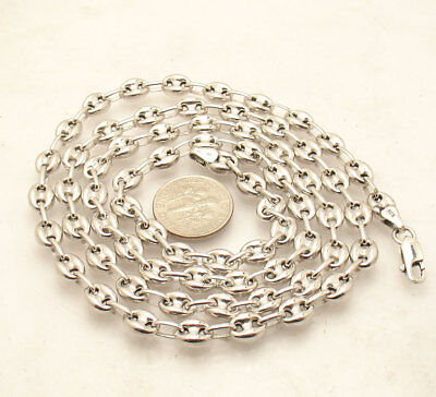 d6fb4ff6b 6mm Puffed Gucci Mariner Link Chain Necklace Anti-Tarnish Real Sterling  Silver