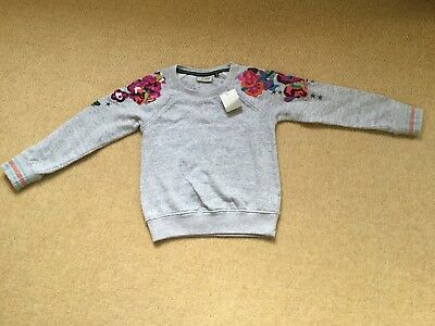 New With Tags Grey Emroidered Top By Next Age 7 Years