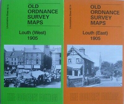 Old Ordnance Survey Detailed Maps Louth (East & West) Lincolnshire 1905
