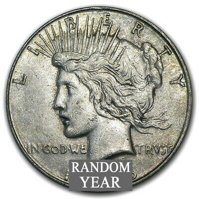 Random Year 1922-1935 $1 Peace Silver Dollar Average Circulated