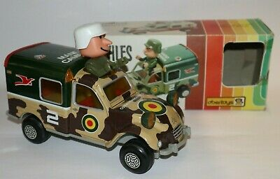 Blechauto Citroen 2CV Militär Kombi Military Wagon Tin/Plastic Friction