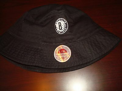 4fada43087d60 BROOKLYN NETS BEACH SURF SKATE SIZE L XL SCRIPT hat cap BUCKET FLOPPY BEACH